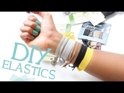 DIY Ribbon Elastic Hair Ties w/ Fold Over Elastic!