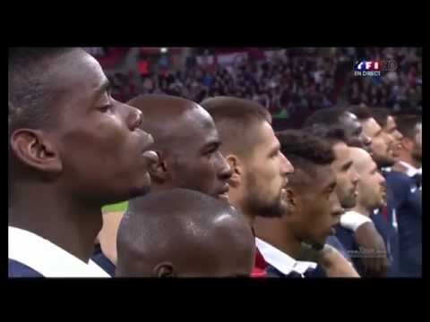 [HD] Pray for the peace | England vs France Entry of players & La Marseillaise & minute of silence