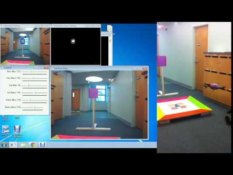 Target Tracking With AR Drone and OpenCV