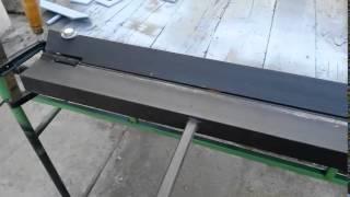 Как самому сделать листогиб металлических листов
