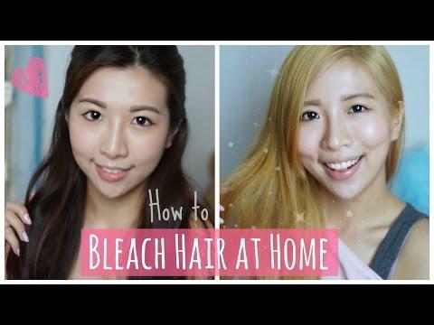 How To Bleach Hair At Home Asian Dark Hair To Blonde Diy Peachy Bunny