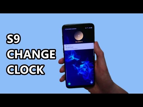 Samsung Galaxy S9 Change Clock on Lock Screen & Always On Display