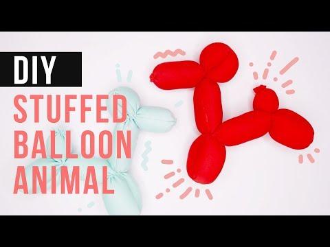 EASY DIY PROJECT FOR KIDS - CUTE stuffed balloon animal