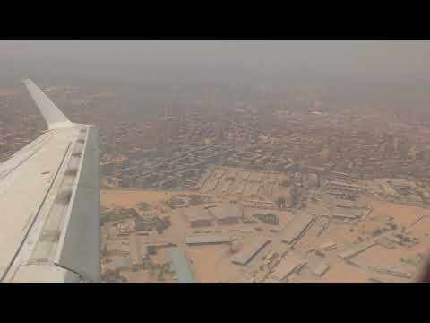 Egyptair Flight MS395 taking off from Cairo to Aswan