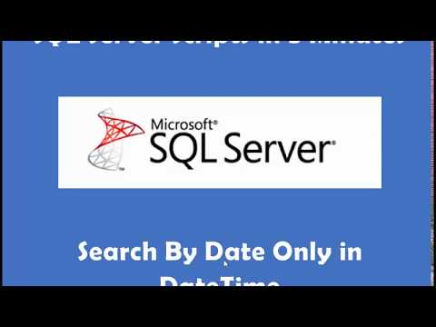SQL Server Search By Date Only in DateTime Field