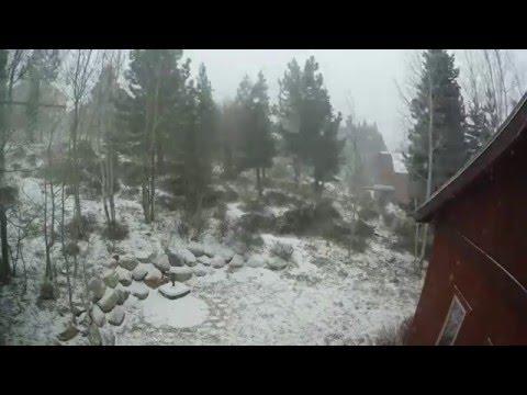 Pre-Thanksgiving snowfall time lapse
