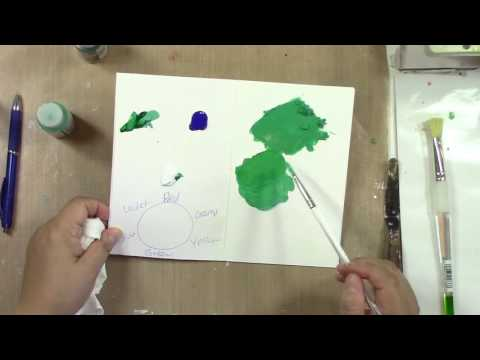 Colour Mixing Demonstration - Green Blue Light