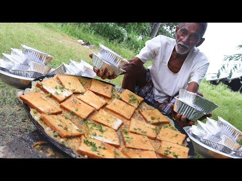 Bread Omelette Recipe | 100 Bread Omelette  Cooking by our grandpa for Orphan kids