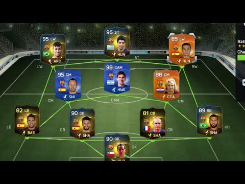 Fifa 15 Retro Most Expensive Barcelona Squad Builder Ultimate Team