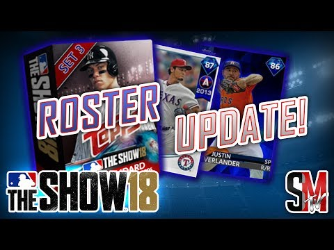 Roster Update & Set 3 Packs ! New Diamonds! MLB the Show 18