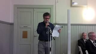 Teemu Keskisarja  Lohjan Kotiseutututkimuksen ystävät 125-vuotisjuhlassa Lohjalla