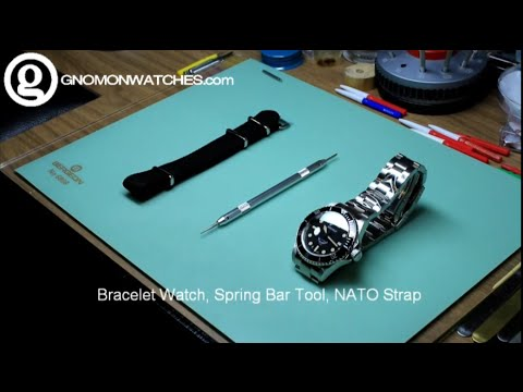 How to install a NATO strap on a diver watch with metal bracelet