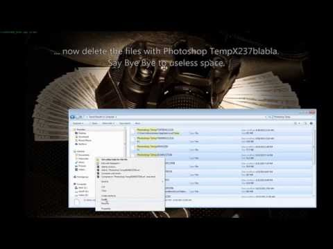 How to delete Photoshop Temp scratch disk file - photoshop temp cache file