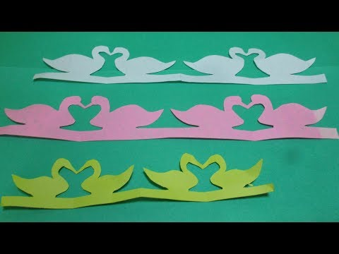How to make paper cutting designs patterns step by step | make a paper cutting duck