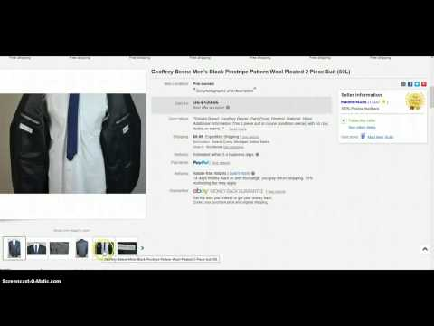 5 Easy To Find Suits To Resell On eBay
