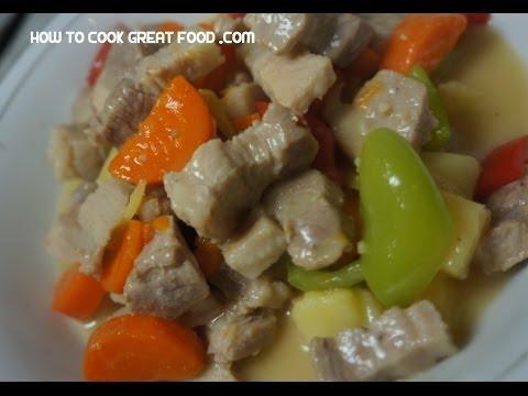 Paano magluto Pork & Pineapple Recipe - Filipino Baboy Tagalog