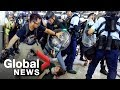 Download  Hong Kong police face off with protesters as airport protests erupt in chaos MP3,3GP,MP4