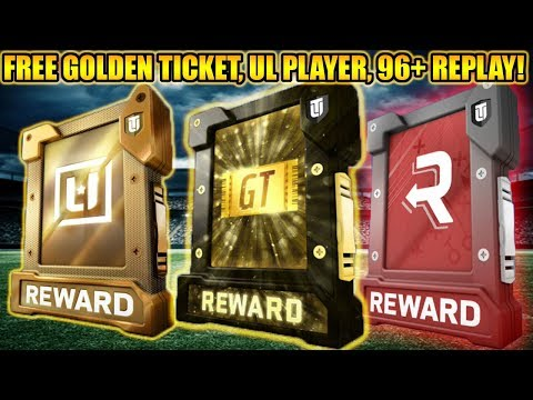 FREE GOLDEN TICKET FANTASY PACK, UL PLAYER, AND 96+ REPLAY PACKS! |  MADDEN 18 ULTIMATE TEAM