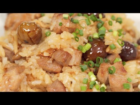 Chuka Okowa (Chinese-style Mixed Rice with Pork and Chestnuts Recipe) | Cooking with Dog