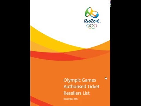 Olympic 2016 Games Authorised Ticket Resellers   RIO 2016 buy ticket Online
