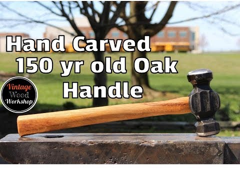 Carving a Handle for a Custom Rounding Hammer from Paul Pinto!