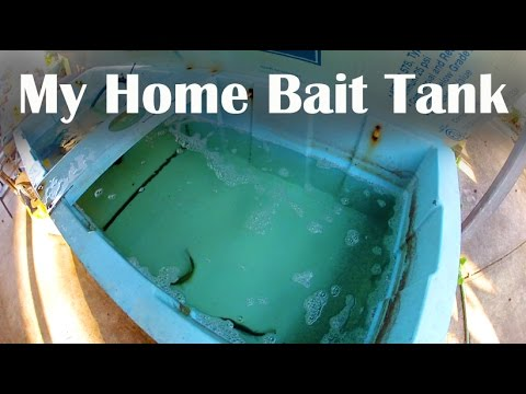 How To Build a Home Bait Tank - Homemade Tanks for Keeping Bait Fish For Catfishing