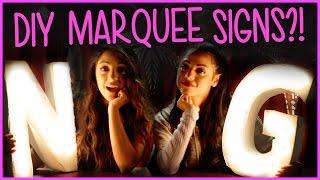Niki And Gabi DIY Marquee Lights?! | DIY or DI-Don