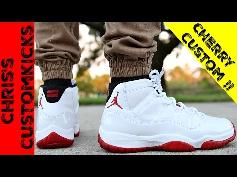 Jordan 11 Cherry mid Custom Full Tutorial
