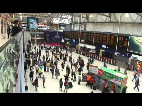 Waterloo Train Station, London, UK; 29th July 2012