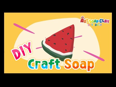 [Art Soap Clay] How To Make Watermelon Soap