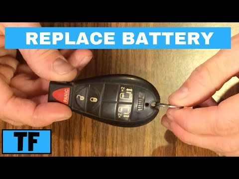 How To Change The Battery In A Dodge Chrysler Jeep Key Fob Replacement
