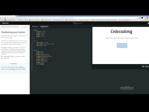 Codecademy's Design a Button for your Website (HTML/CSS Course)