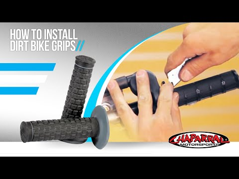 How to install Dirt Bike Grips - Chaparral Motorsports Tech Tip #12