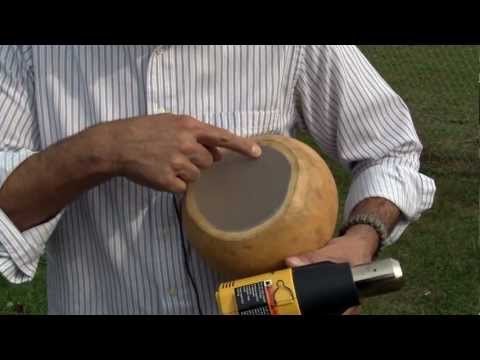How to Heat-Shrink the Synthetic Drumhead for a Thunder Drum/Gourd.mpg