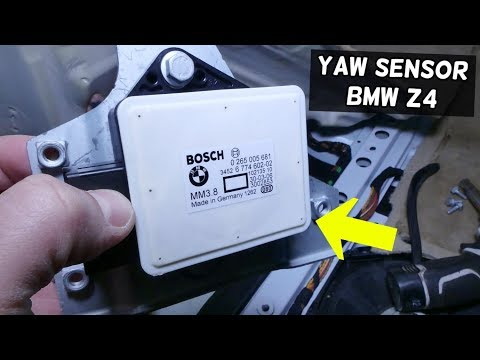 YAW TRACTION CONTROL SENSOR LOCATION AND REPLACEMENT BMW E85 E86 Z4