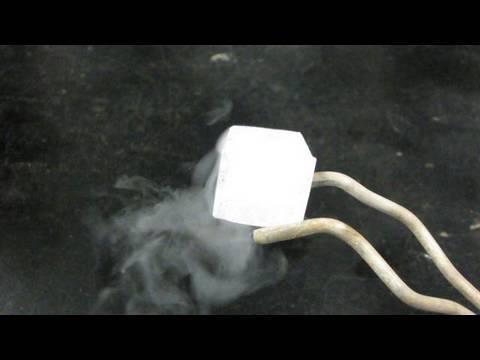 Ice Cooled with Liquid Nitrogen