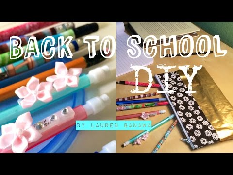 Back to School DIY | Pencils and Pencil Case