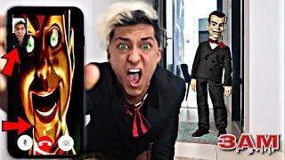 DO NOT FACETIME SLAPPY THE DUMMY DOLL AT 3AM!! *OMG HE ACTUALLY ANSWERED*