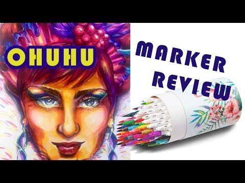 OHUHU Dual BRUSH PENS & Fineliner Marker Review [I'M BACK!]