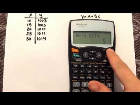 Linear Regression using the calculator Sharp EL-531W