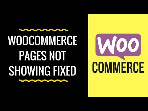 WooCommerce Pages Not Displaying or Showing - Shortcode for Cart, Checkout and My Account Pages