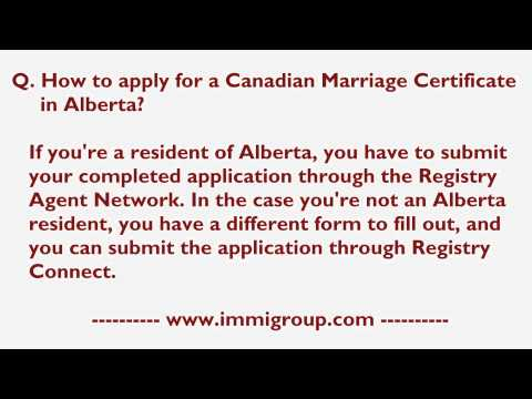 How To Apply For A Canadian Marriage Certificate In Alberta?