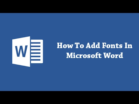 How To Add Fonts In Microsoft Word?