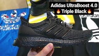 detailed look 1a71c 720db ultra boost 4.0 triple black Videos - 9tube.tv