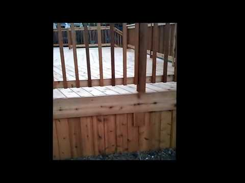 How to stain a new cedar wood deck properly