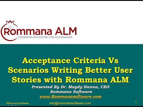 ALM Tools | Acceptance Criteria Vs Scenarios: Writing Better User Stories with Rommana ALM