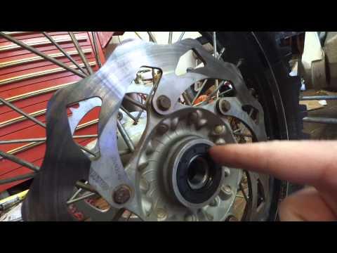 KTM Rear wheel bearing upgrade kit fitment issue fix, rubbing disk repair