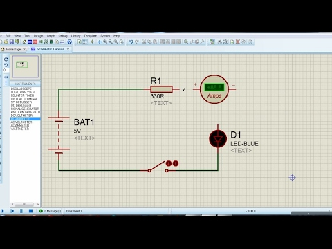 Proteus for beginners turorial#2 - Measuring current in an LED circuit