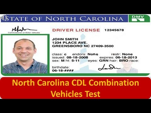 North Carolina CDL Combination Vehicles Test