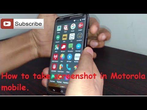 How to take screenshot in Motorola mobile